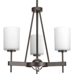 Progress Lighting Compass Collection 3-Light Antique Bronze Chandelier