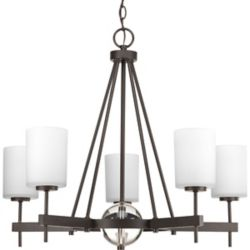 Progress Lighting Compass Collection 5-Light Antique Bronze Chandelier