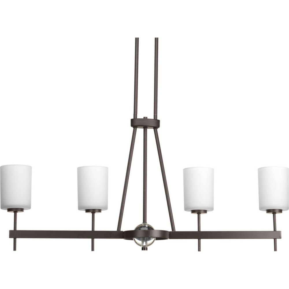 Progress Lighting Compass Collection 4-Light Antique Bronze Chandelier