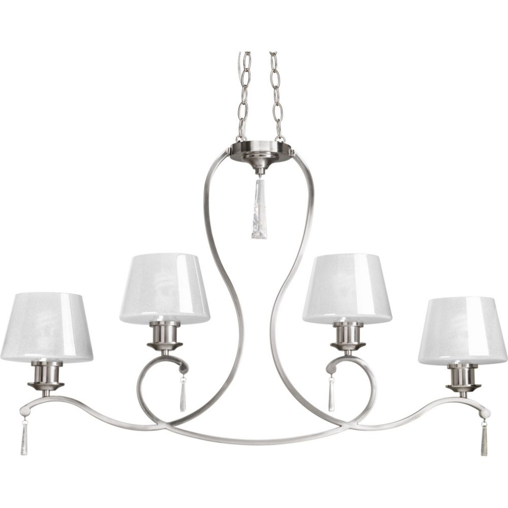 Dazzle Collection 4-Light Brushed Nickel Chandelier