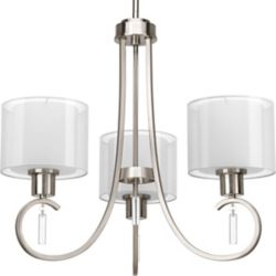 Progress Lighting Invite Collection 3-Light Brushed Nickel Chandelier