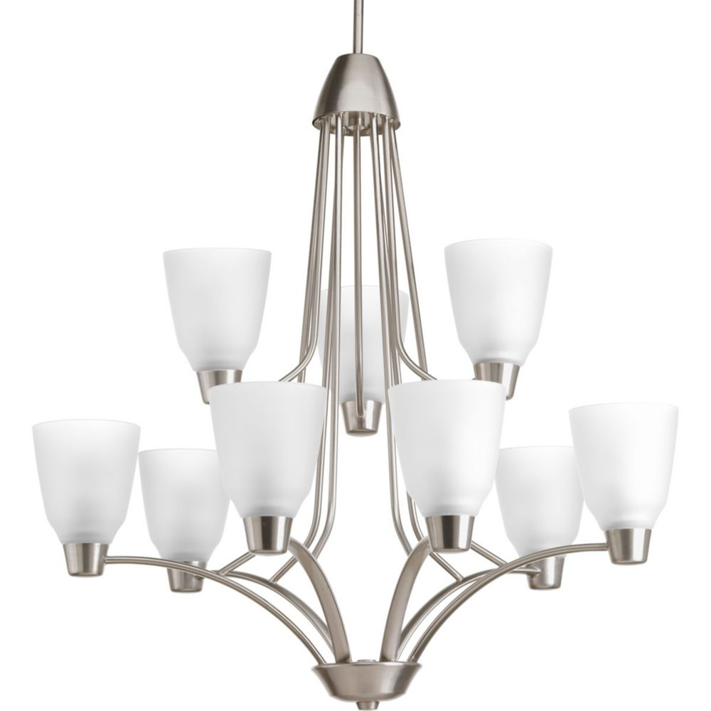 Asset Collection 9-light Brushed Nickel Chandelier