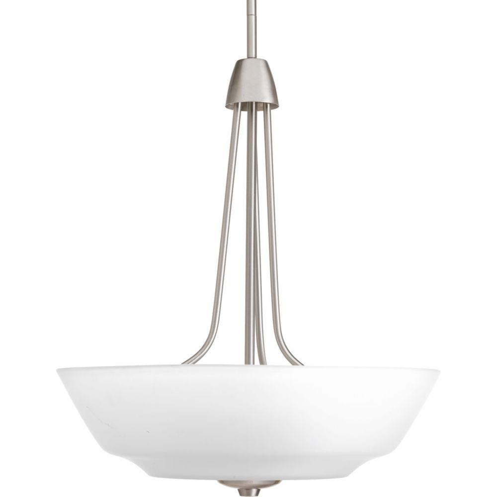 Asset Collection 3-light Brushed Nickel Foyer Pendant