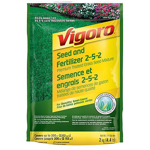 Premium Treated Grass Seed & Fertilizer Mix