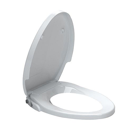 American Standard AquaWash Non-Electric Slow Close Bidet Seat for Elongated Toilets in White