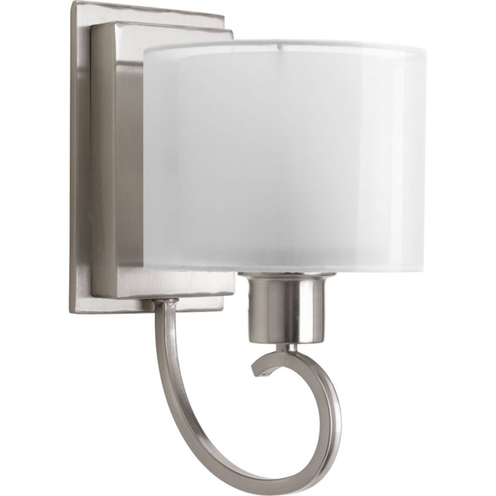 Invite Collection 1-Light Brushed Nickel Wall Bracket