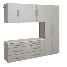 HangUps 90 Inch Storage Cabinet Set H - 5pc