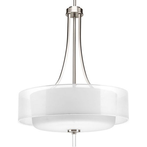 Progress Lighting Invite Collection 4-Light Brushed Nickel Foyer Pendant