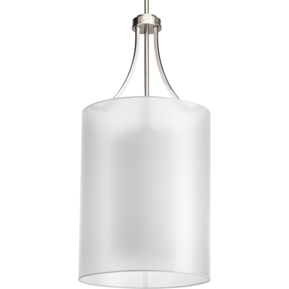 Invite Collection 2-Light Brushed Nickel Foyer Pendant