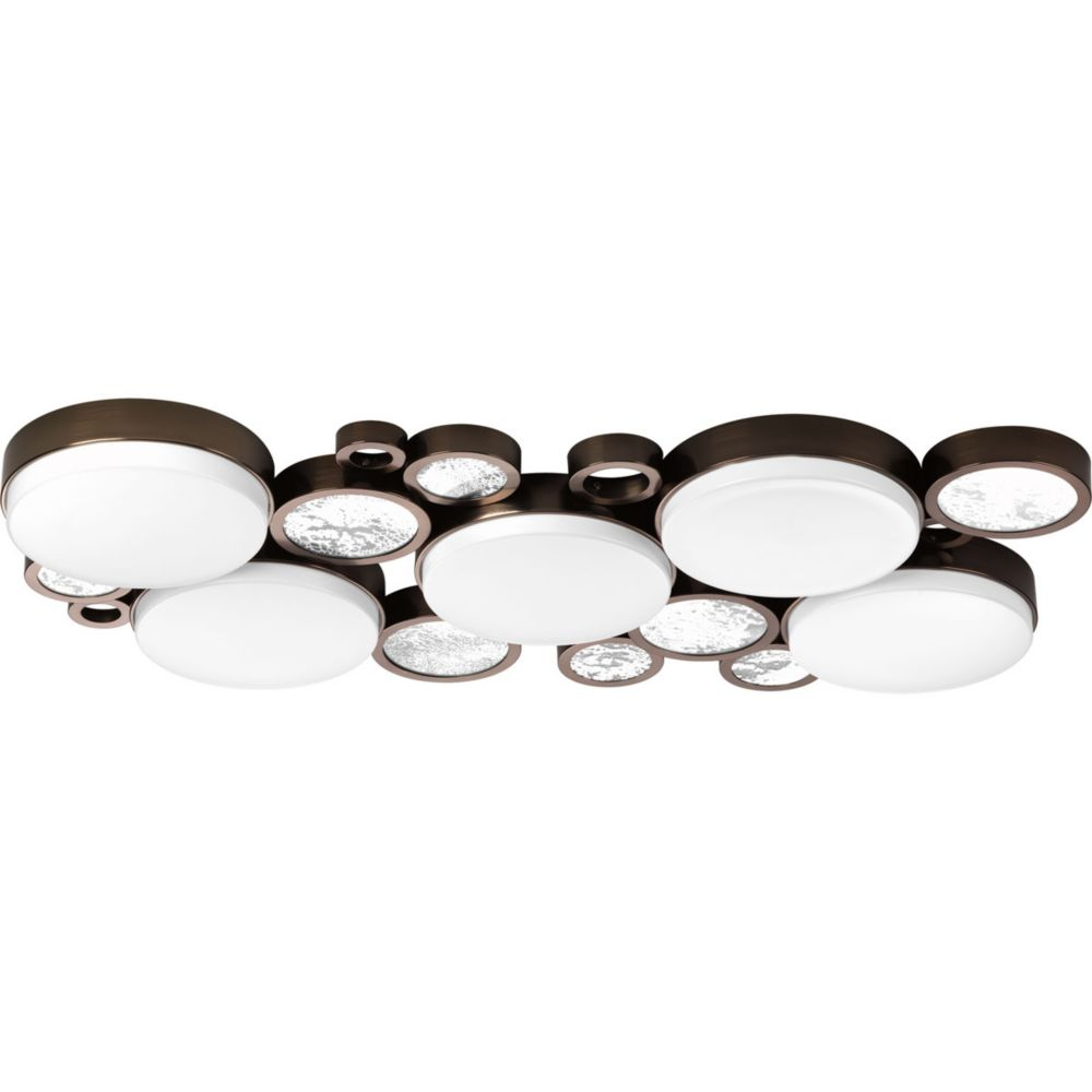 Bingo Collection 5-light Venetian Bronze Flushmount