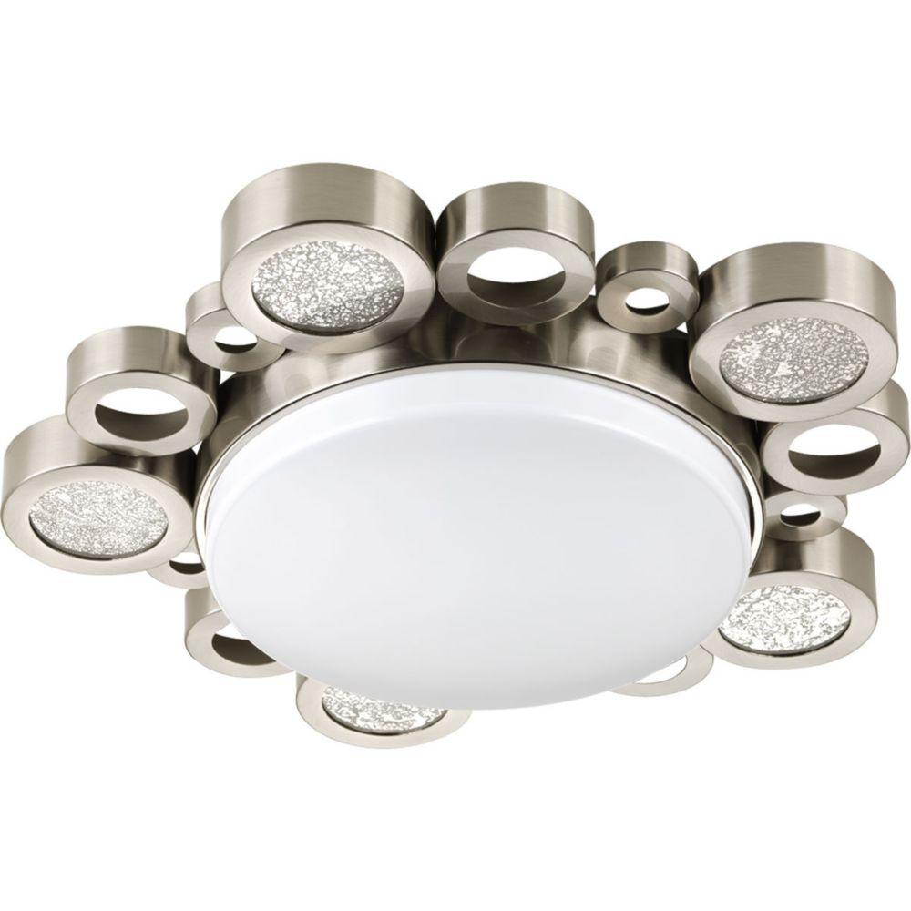 Bingo Collection 1-light Brushed Nickel Flushmount