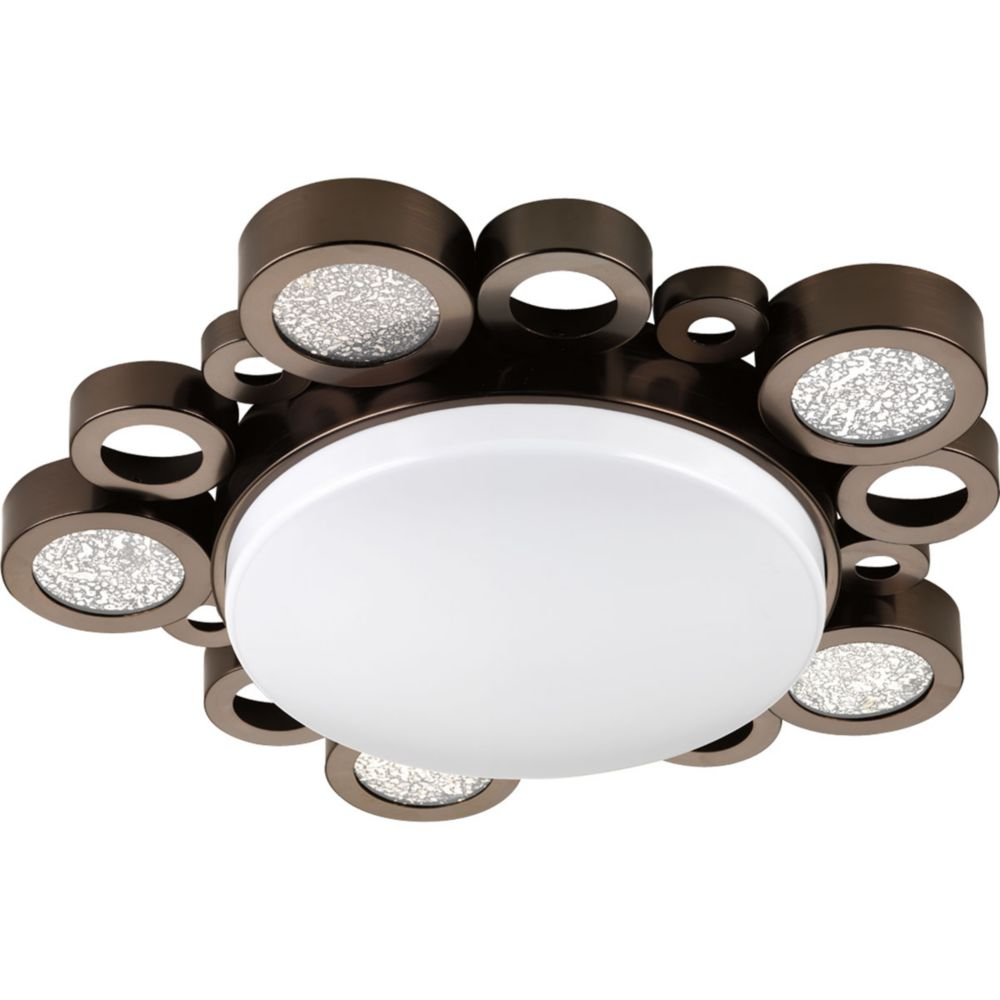 Bingo Collection 1-light Venetian Bronze Flushmount