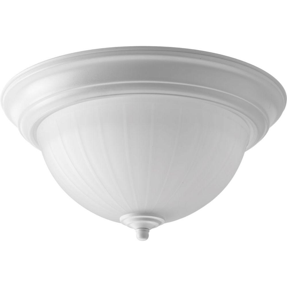 Progress LED White Flushmount