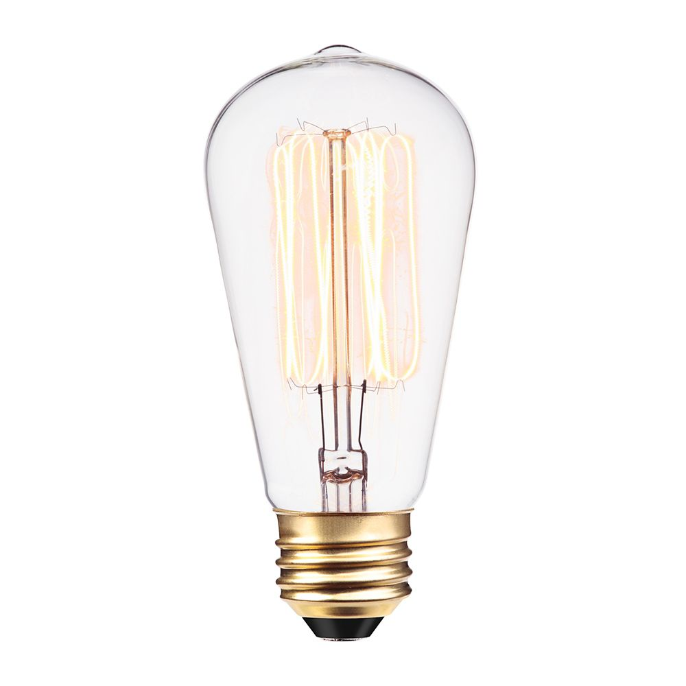 01321 60W Vintage Edison S60 Squirrel Cage Incandescent Filament Light Bulb, E26 Base