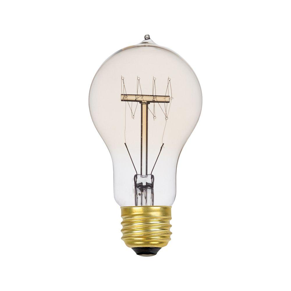 01325 60W Vintage Edison A19 Quad Loop Incandescent Filament Light Bulb, E26 Base