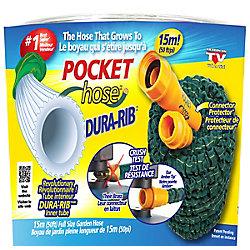 Pocket Hose Dura-Rib 50 ft. Expanding Garden Hose