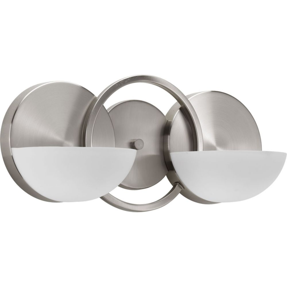 Engage Collection 2-Light Brushed Nickel Bath Light