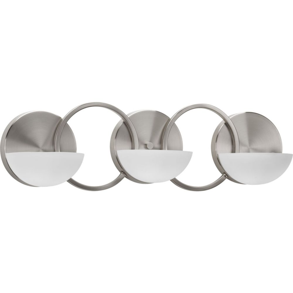 Engage Collection 3-Light Brushed Nickel Bath Light