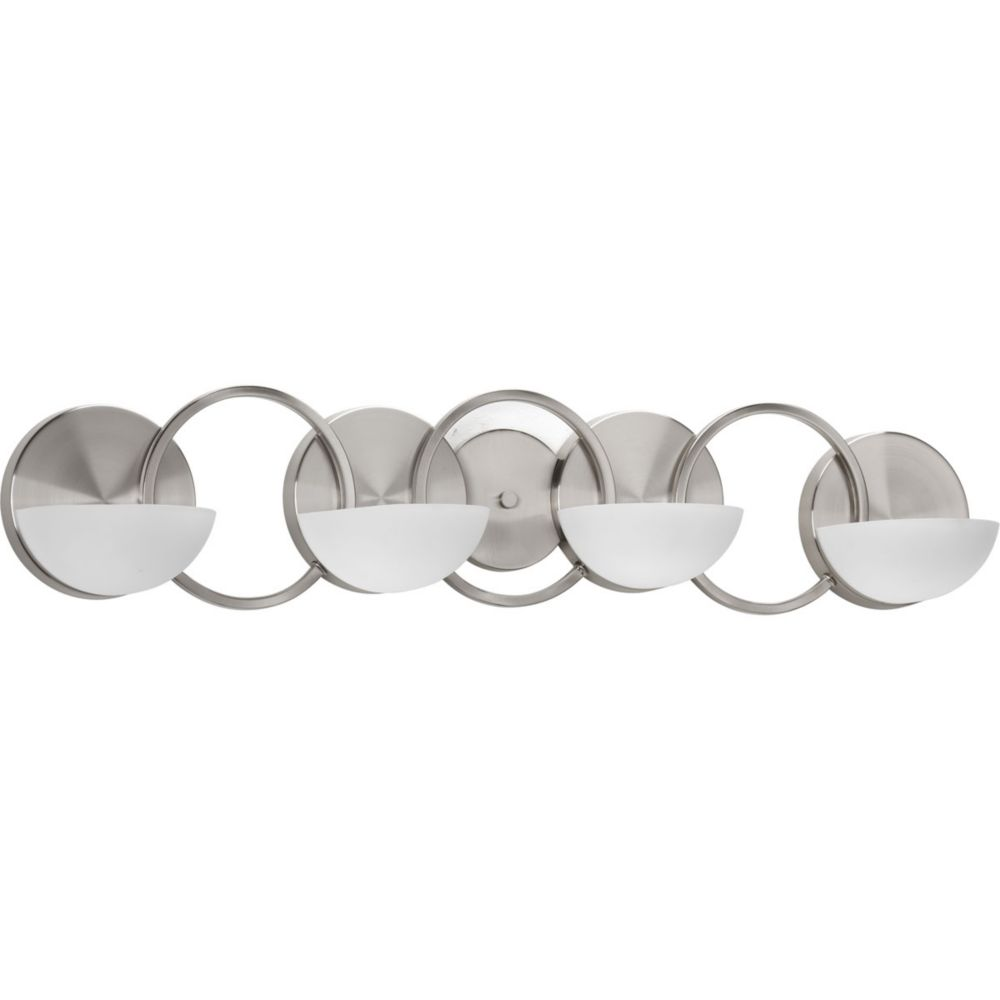 Engage Collection 4-Light Brushed Nickel Bath Light