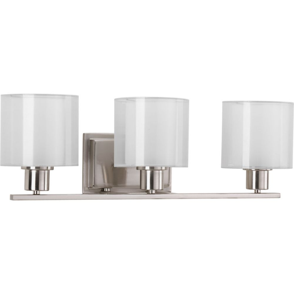 Invite Collection 3-Light Brushed Nickel Bath Light