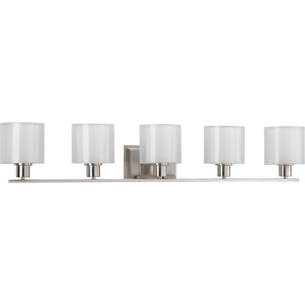 Invite Collection 5-Light Brushed Nickel Bath Light