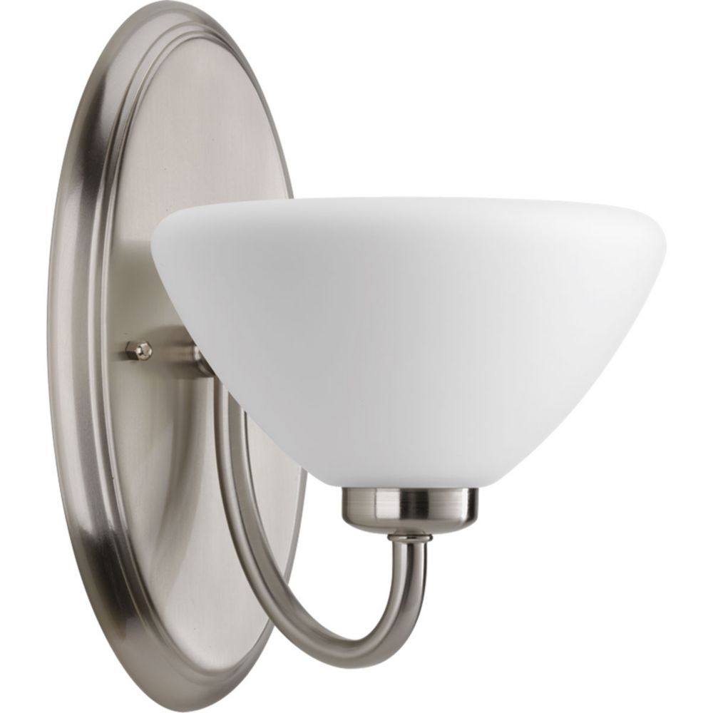 Rave Collection 1-Light Brushed Nickel Bath Light