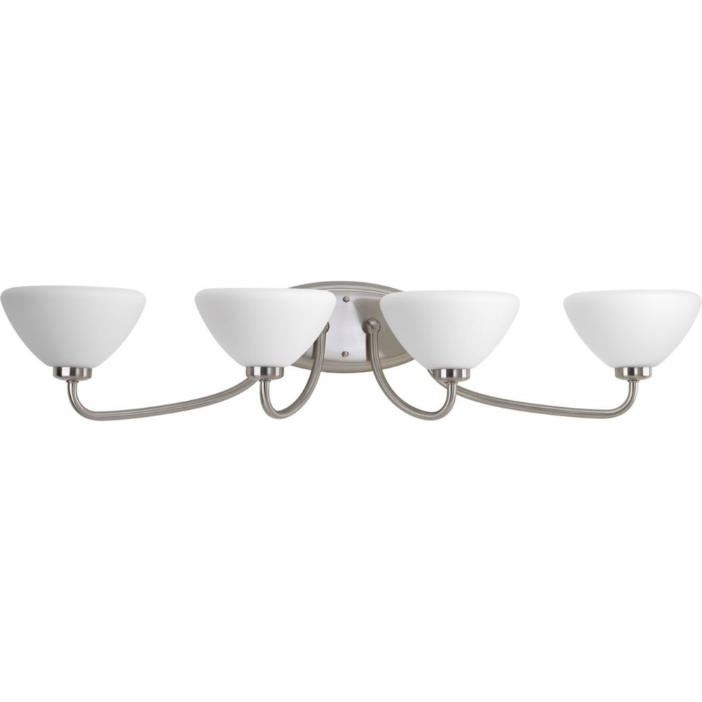 Rave Collection 4-Light Brushed Nickel Bath Light