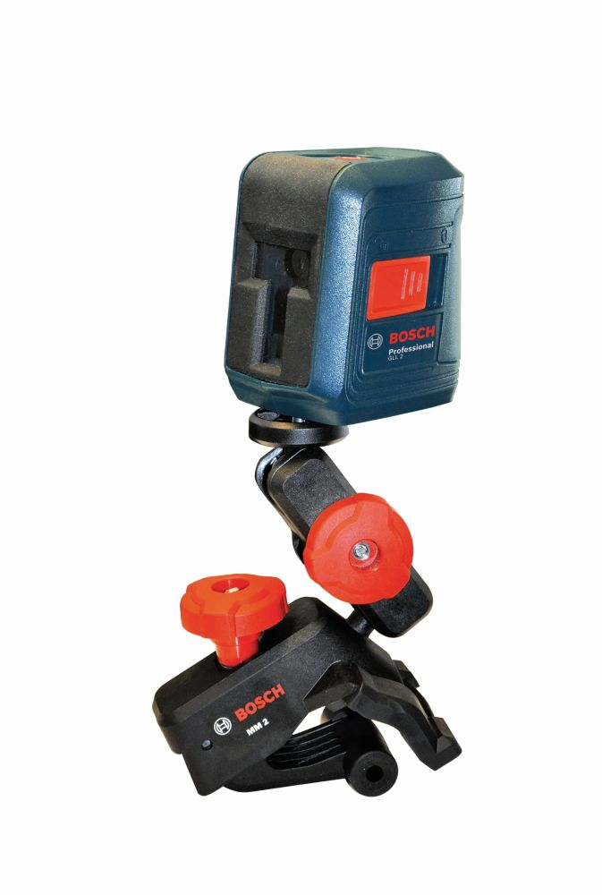 Bosch Self Leveling Cross Line Laser Level with Clamping Mount