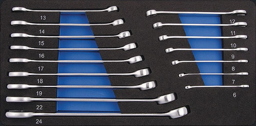 Combination Wrench Set - 16 Pieces Metric