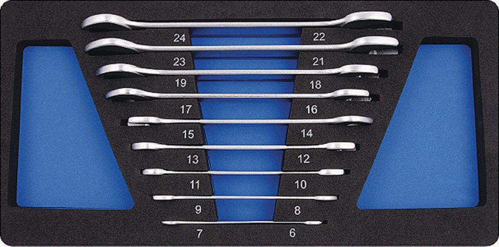 Open-End Wrench Set - 9 Pieces Metric