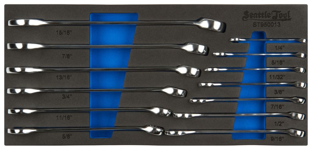 Combination Wrench Set - 13 Pieces SAE