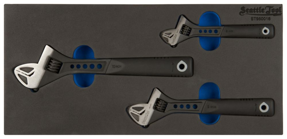 Adjustable Wrench Set - 3 Pieces