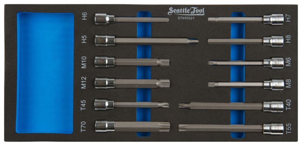 3/8 Inch Bit Socket Set - 4 Hex, 4 Torx, 4 Spline