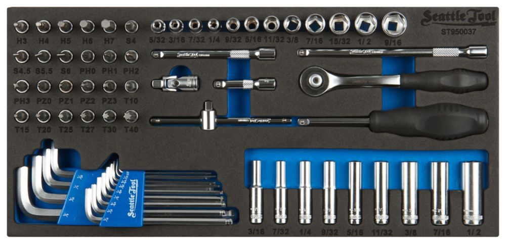 1/4 Inch Socket and Driver Set - 65 Pieces SAE ST950037 Canada Discount