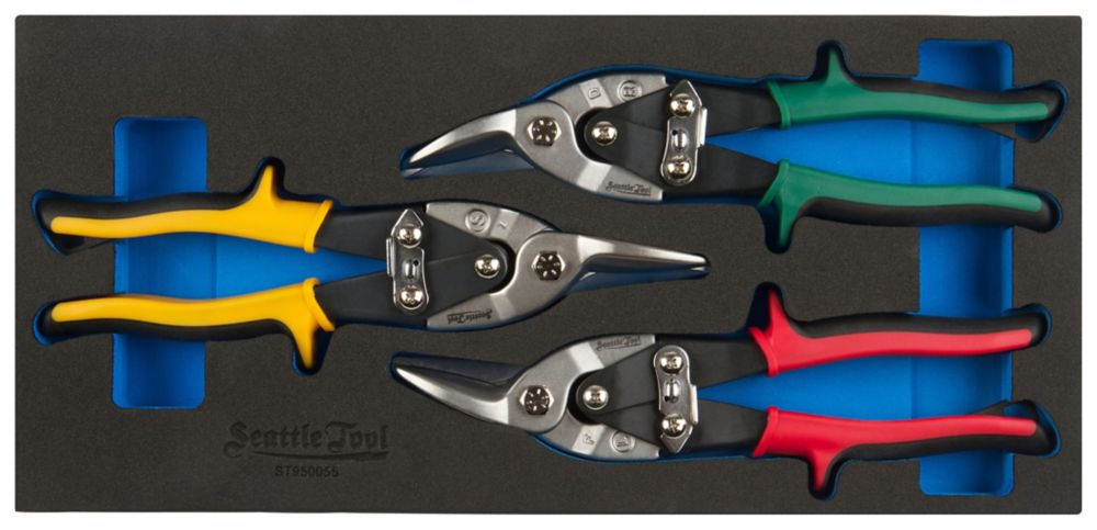 Seattle Tool Aviation Snip Set - 3 Pieces