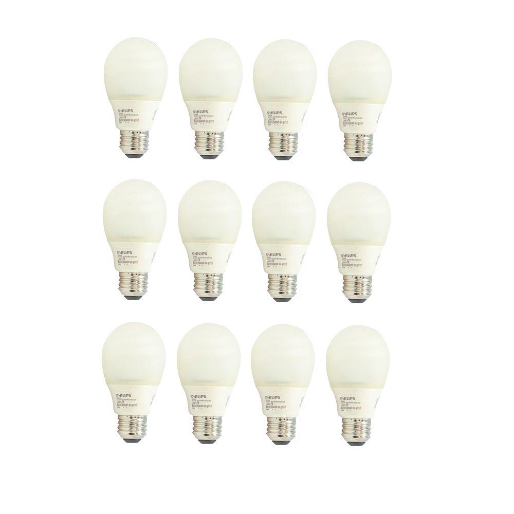 CFL 14W = 60W A-Line (A19) Silicone Medium Base Daylight (6500K) - Case of 12 Bulbs