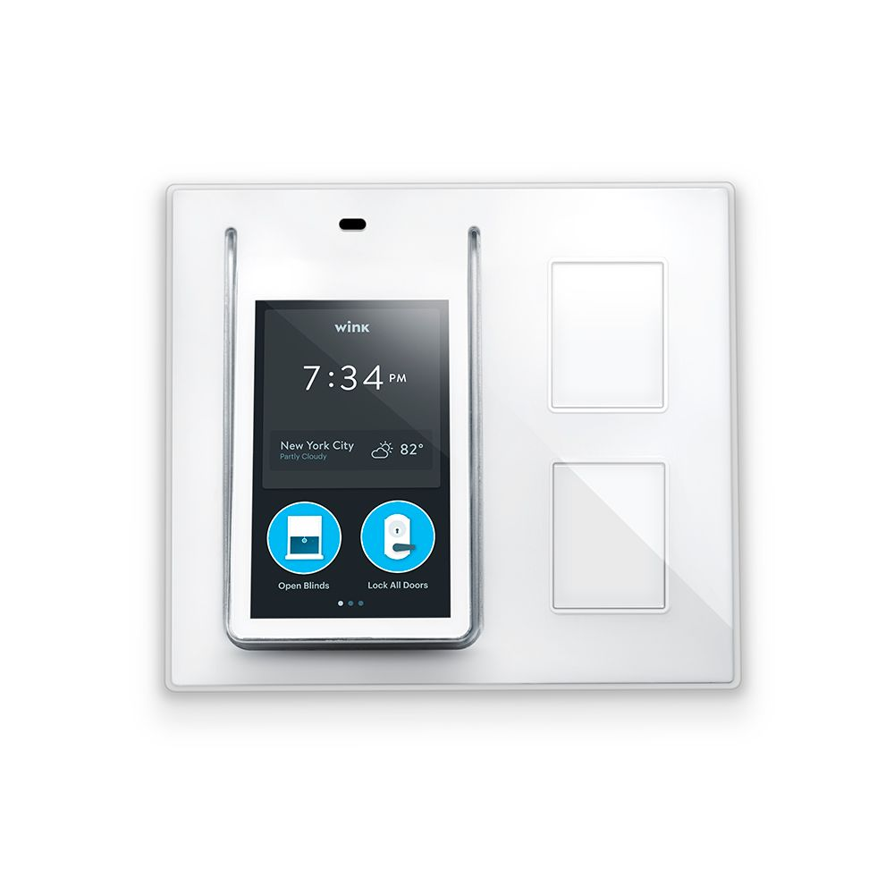 wink relay smart home wall controller the home depot canada. Black Bedroom Furniture Sets. Home Design Ideas