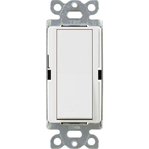Lutron Claro 15 Amp 3-Way Switch, White