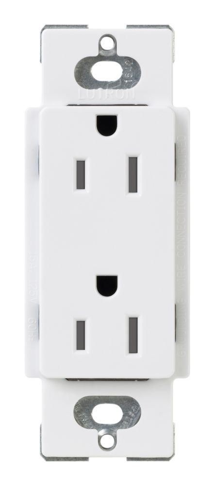 Réceptacle inviolable, Claro 15-Amp, Blanc