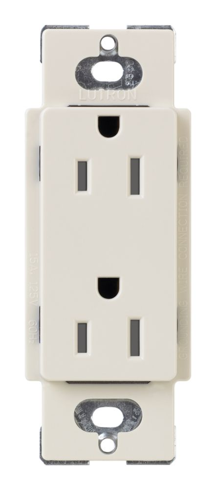 Claro 15-Amp Tamper Resistant Receptacle, Light Almond