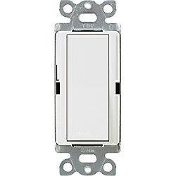 Lutron Claro 15-Amp Single-Pole Switch, White