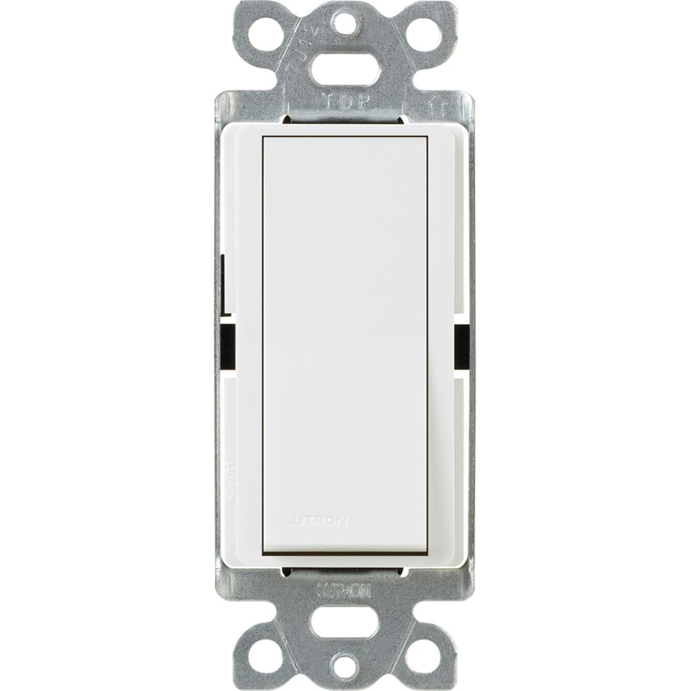 Claro 15-Amp Single-Pole Switch, White