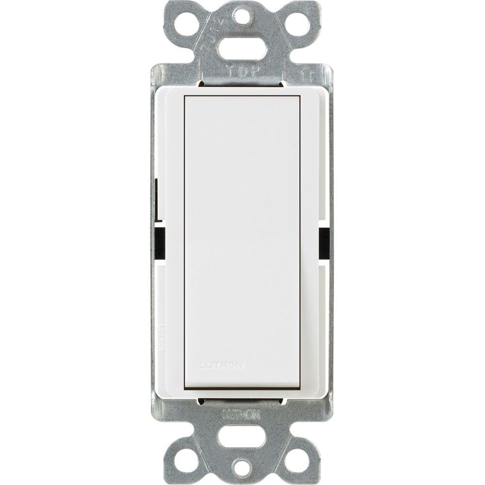 Claro 15-Amp Single-Pole Switch, White