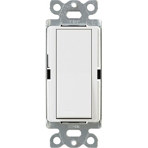 Lutron Claro 15-Amp Single-Pole Switch, White
