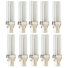 CFL 5W PLS Warm White 2 Pin - Case of 10 Bulbs