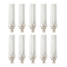 CFL 13W PLC Warm White 2 Pin - Case of 10 Bulbs