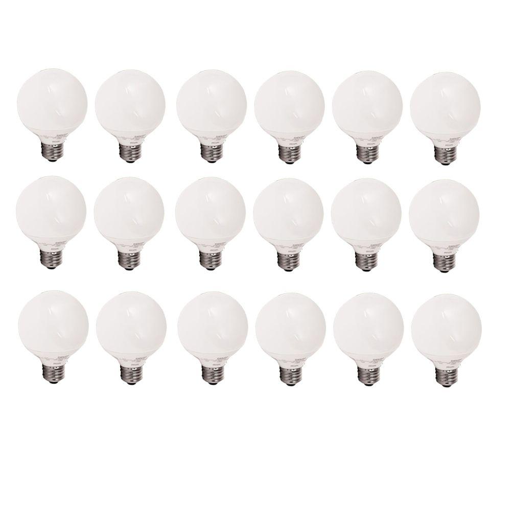 LFC Globe EnergySaver 14W = 60W G25 Globe Blanc doux (2700K)  - Cas de 18 Ampoules