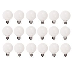 Philips LFC Globe EnergySaver 14W = 60W G25 Globe Blanc doux (2700K)  - Cas de 18 Ampoules