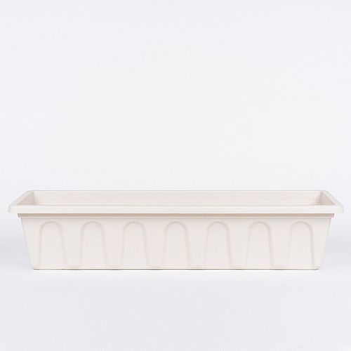 National 24-inch Bal Planter with Bracket in Linen