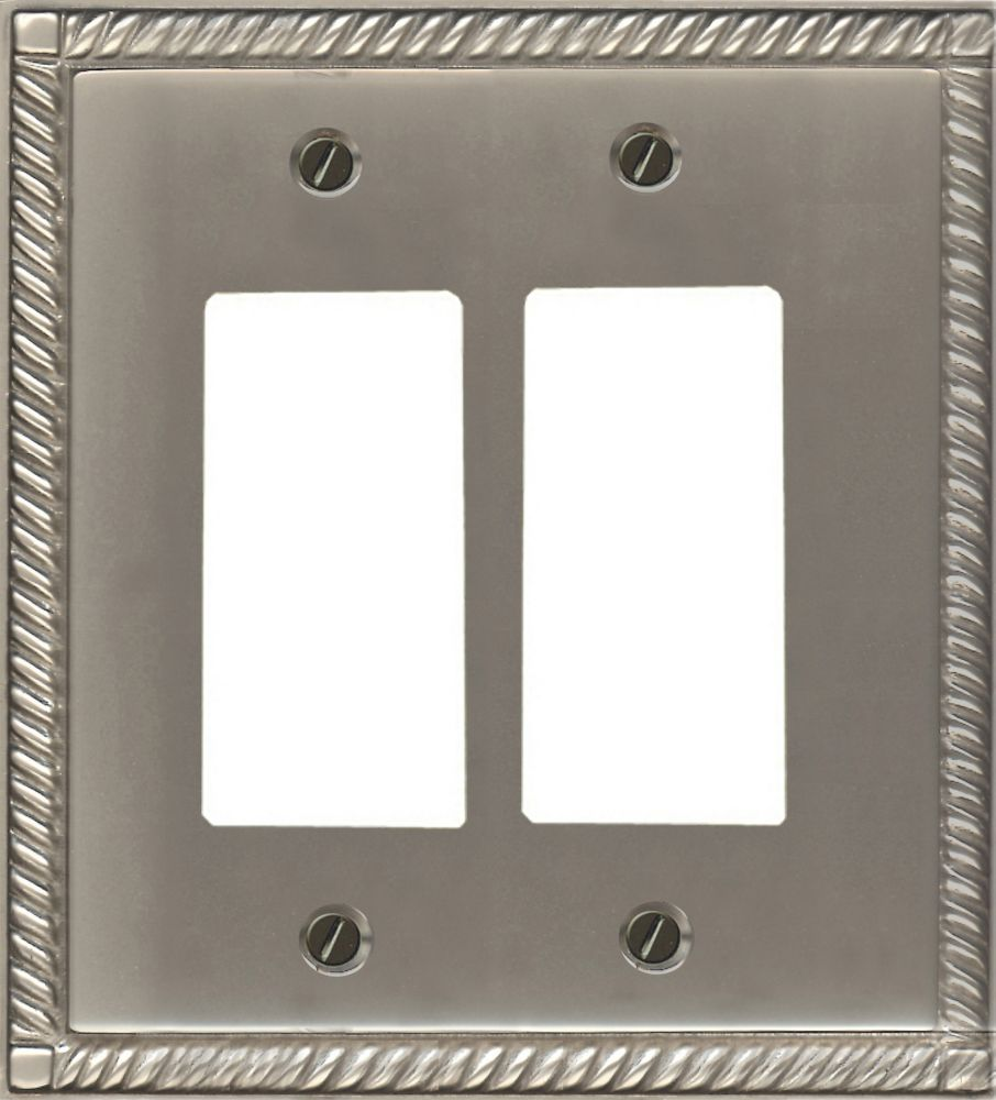 Solid Brass Pewter Finish Double Rocker